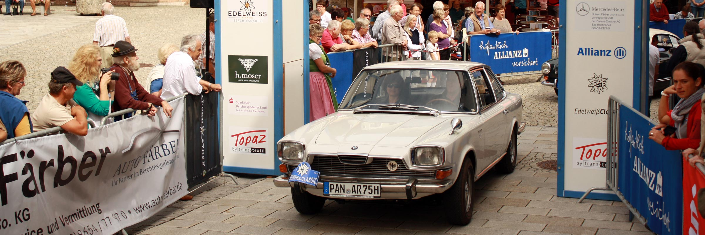 Die Sieger der EdelweißClassic 2014 Rambold Hannes und Connie auf Glas 3000 V8 BJ 1967